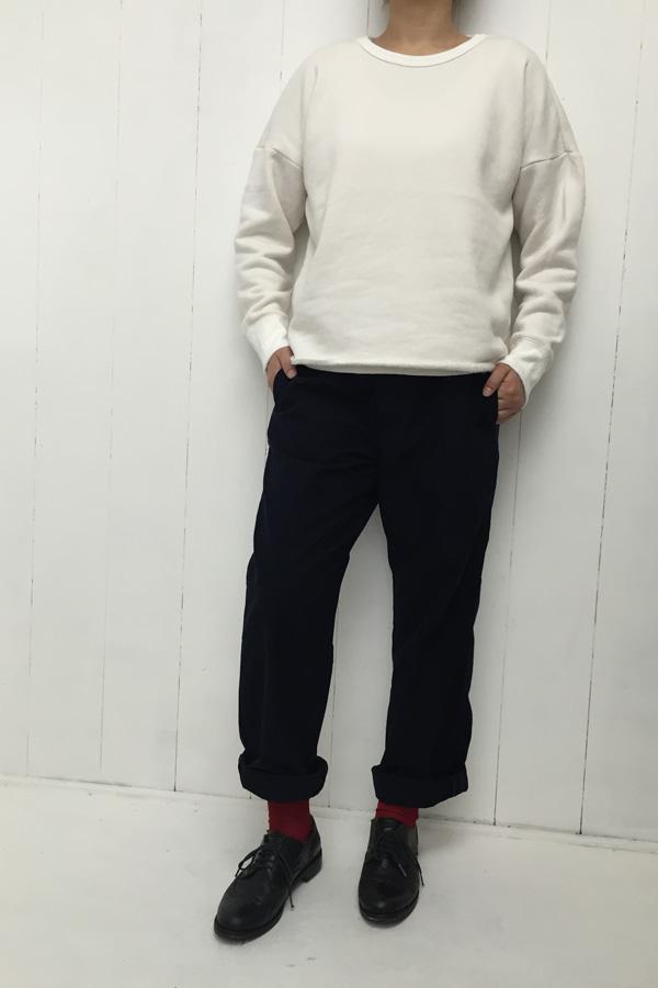 シープ裏毛起毛 ドロップショルダー プルオーバー × DETAIL PANTS style