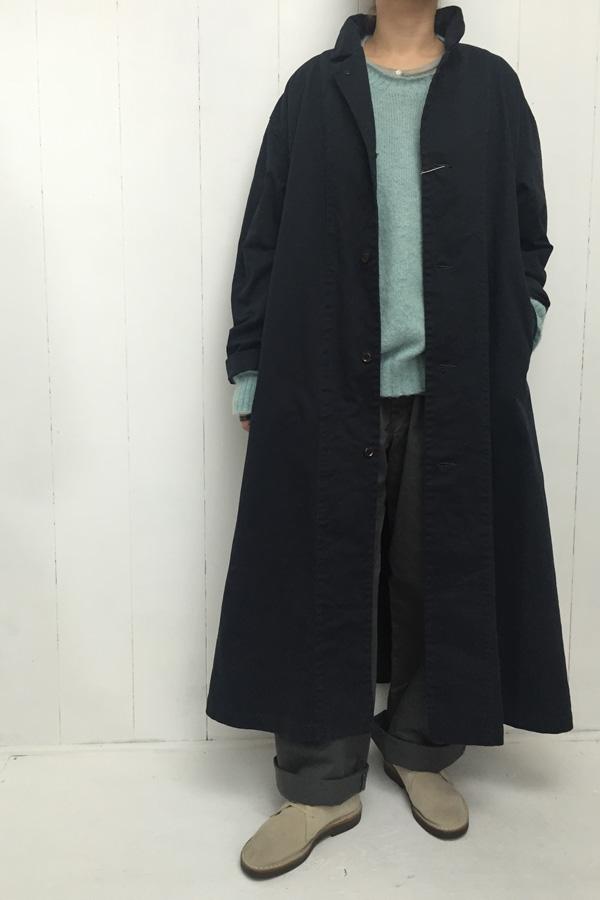 チノクロス製品染め オーバーコート × キッドモヘア クループルオーバー style