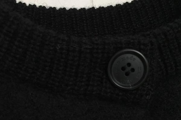 圧縮wool ノーカラーコート