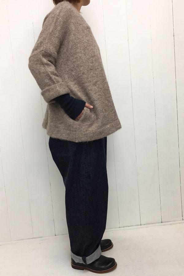 ワイドプルオーバー ニット × DUKE OVERALL style