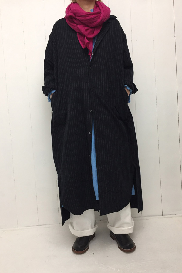 EDWARD ONEPIECE × ウール梨地ガーゼ ショール style