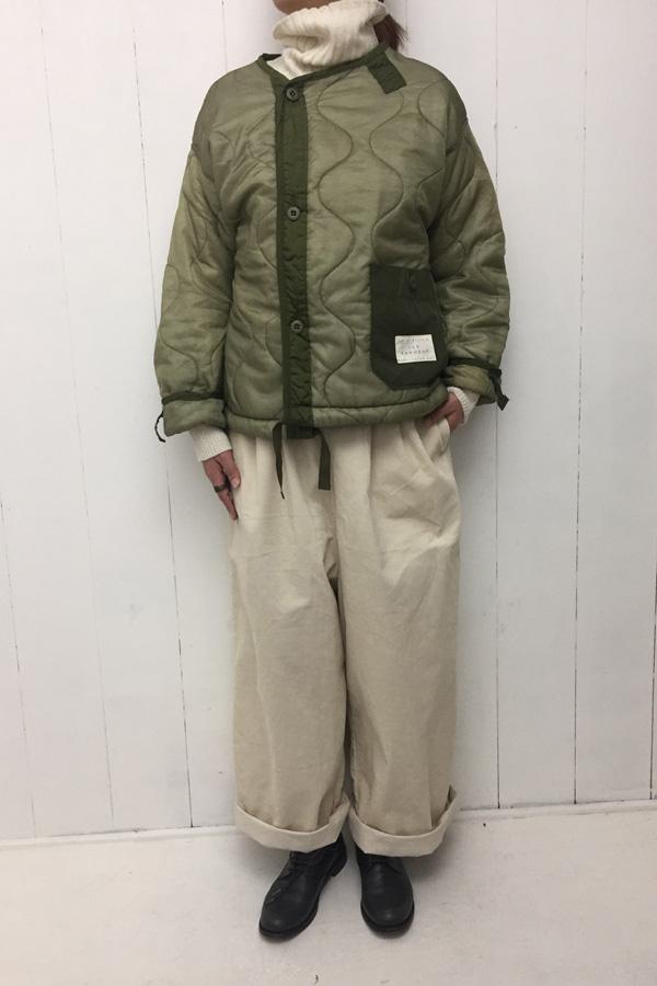 remake ショートジャケット × タートルニット style