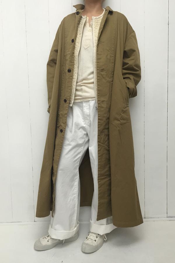チノクロス 製品染めオーバーコート × ボアベスト style