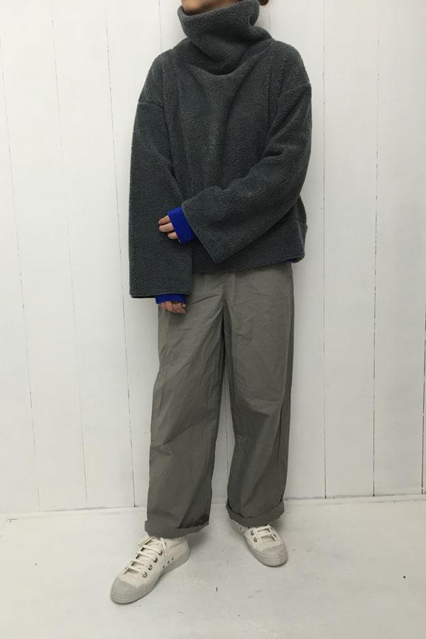 ボアタートル ワイドプルオーバー × ブルー リブカットソー style