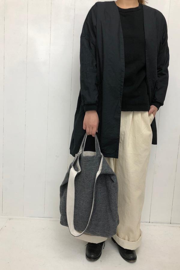 グロッサリーバッグ × 平ダンプ リブドッキング ノーカラーコート style