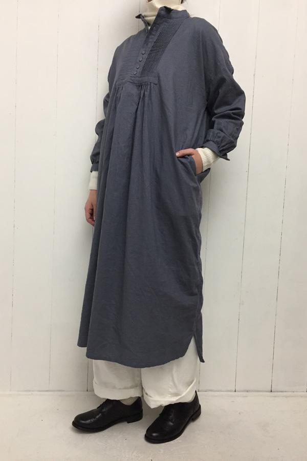 コットンリネン 起毛ワンピース × ファムイージーパンツ style