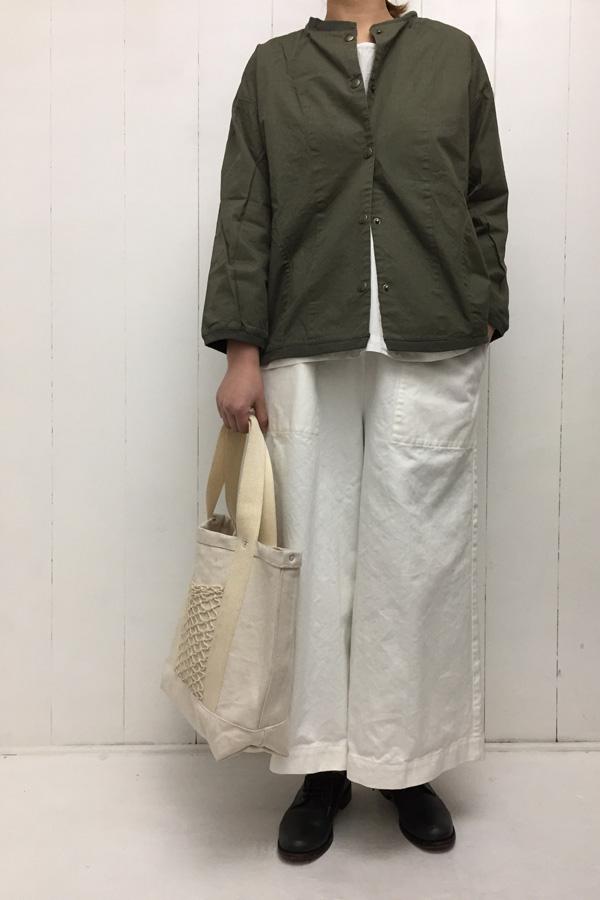 ドッキングジャケット × ツイル ワイドパンツ style