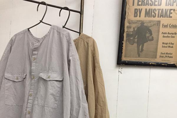 綿リネン シーチング ロングシャツ