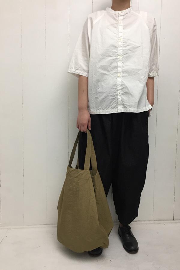ドルマンスリーブ スタンドカラーシャツ × BALL PANTS style