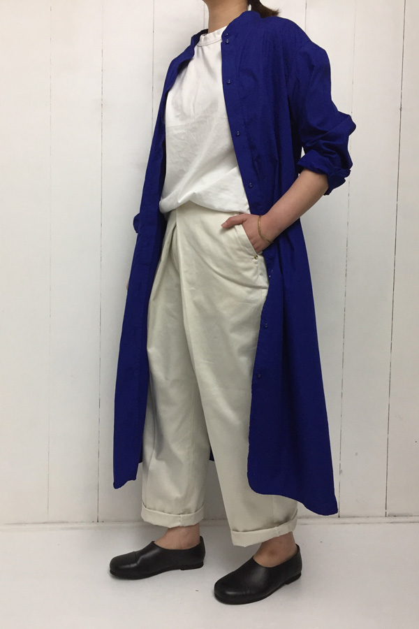 Chino Pants × 天竺 フレンチスリーブ style
