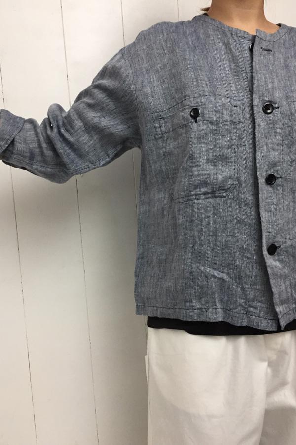 フレンチ クルーシャツ × フレンチ トラウザー style