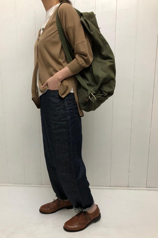 COTTON カーディガン × クラシカルルーズクロップド style