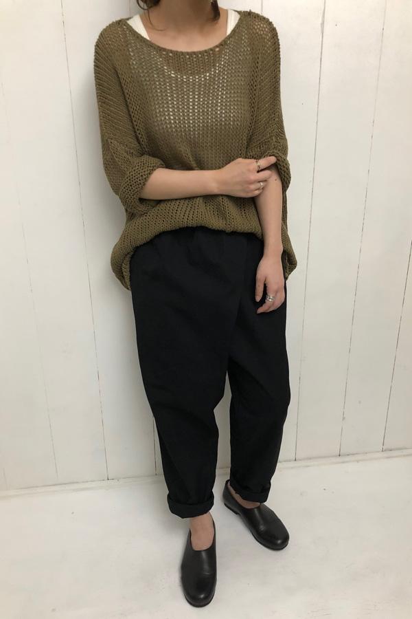 WASHI プルオーバーニット × TWIST PANTS style