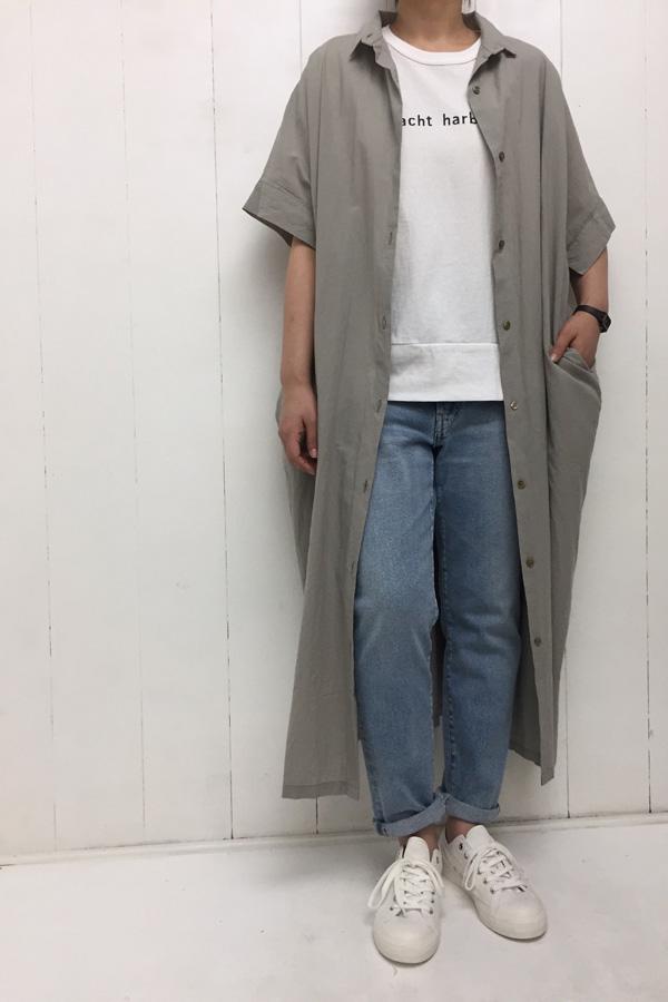 ビッグシャツワンピ × GIRL'S 海上がりTシャツ style
