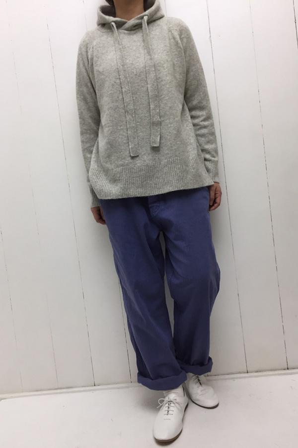 ニット パーカー × SULFIDE DYE PANTS style