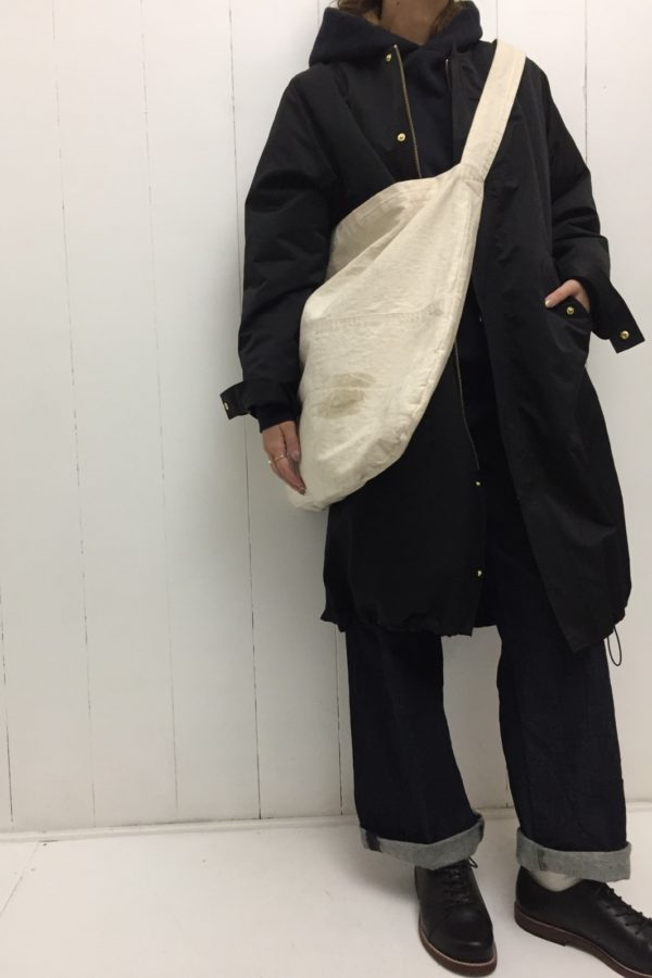 long coat × PULLOVER PARKER style