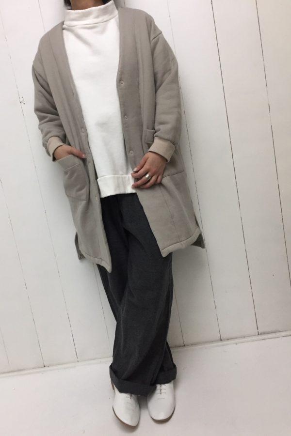 ムートン裏毛 ハーフコート style