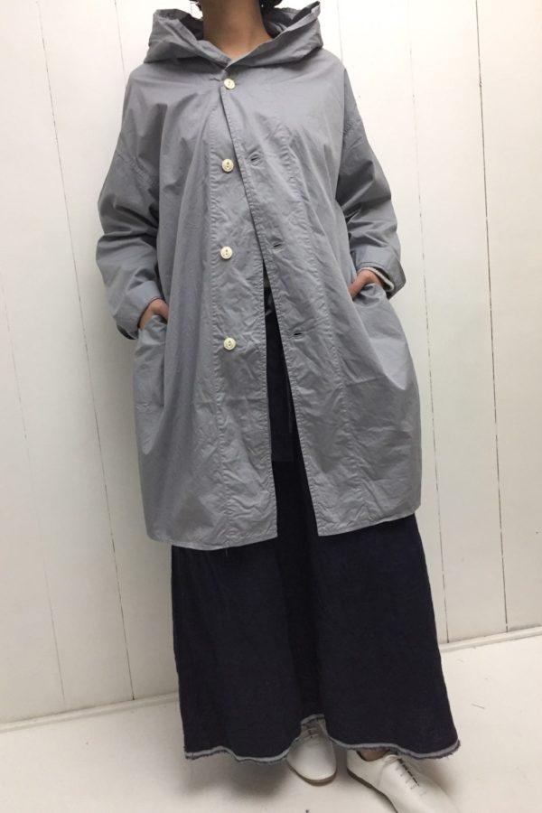 フードシャツコート × LINEN SKIRT style