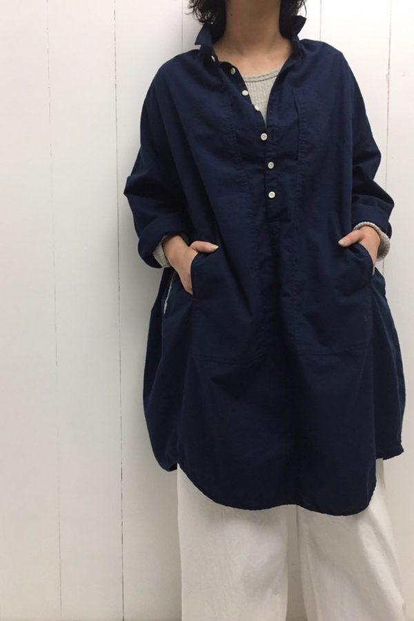 BIG ポケット ワンピース × デニム イージーパンツ style