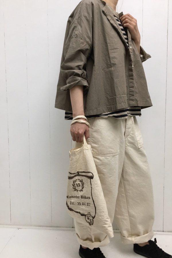 比翼ワイドシャツ × JAMES PANTS style