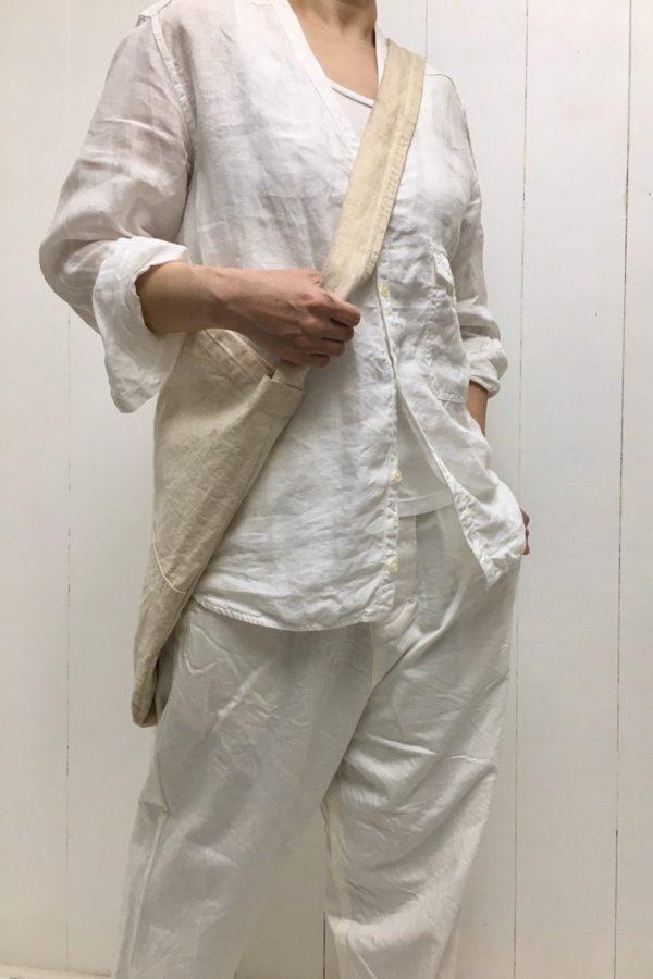 LINEN ONEMILE CARDIGAN × イージーパンツ style