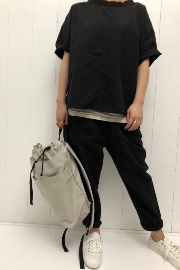 ドゥミシャツ × 帆布 リュックサック style