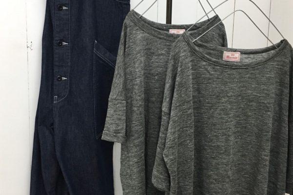 粗挽き杢天竺 ワイドTシャツ