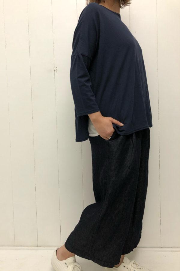 裾ラウンド 8分袖プルオーバー style