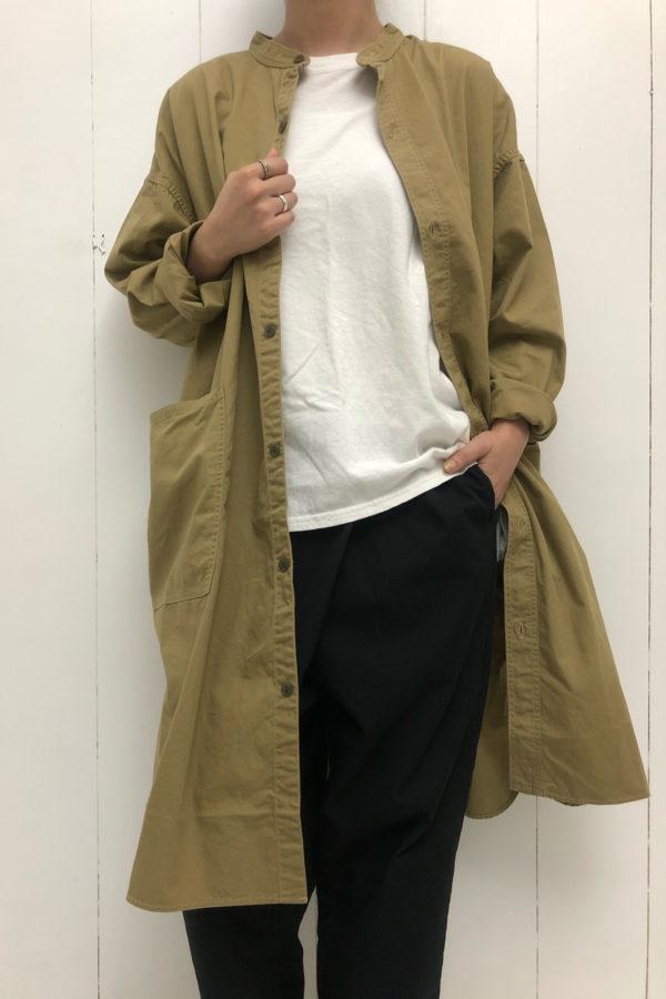 バットダイポプリン オーバーシャツ × TWIST PANTS style