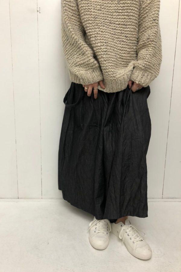 SNOW DOME PULLOVER × ワンショルダー ロングスカート style