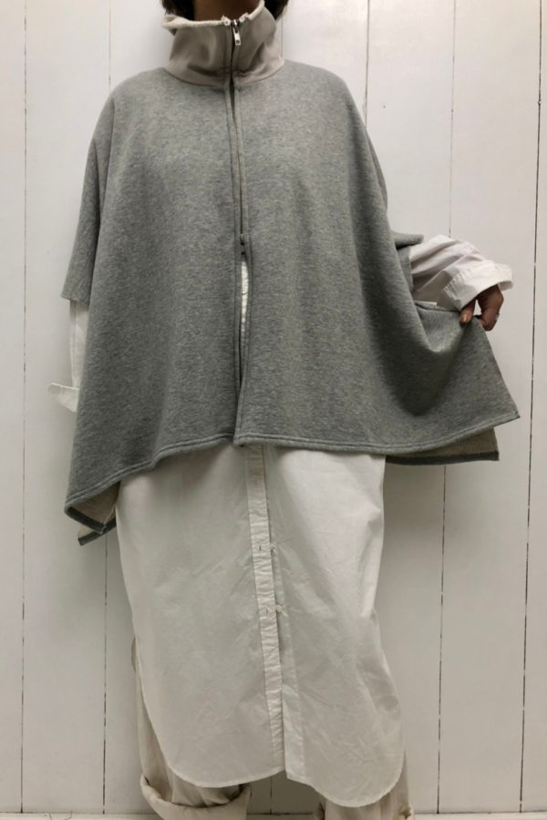 CASHMERE LIKE STAND COLLAR PONCHO style