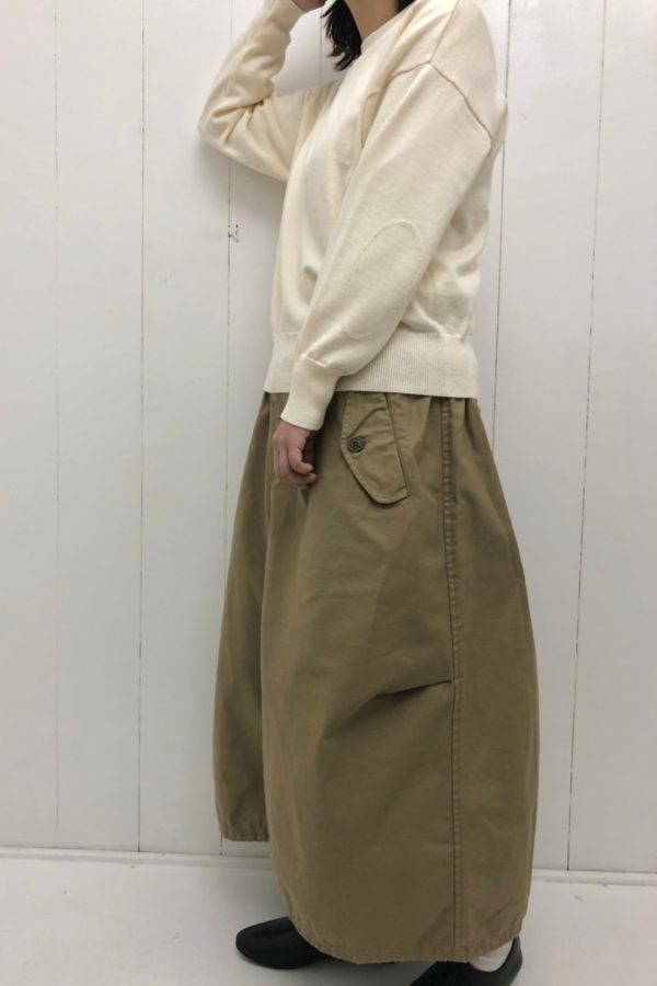 ELBOW PATCH KNIT × フィッシュテールスカート style