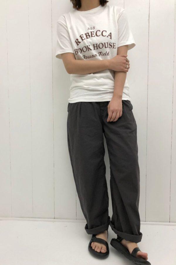 PRINT-T × タックワイドパンツ style