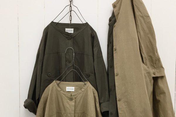 サニードライタイプライター カットオフカラーシャツジャケット
