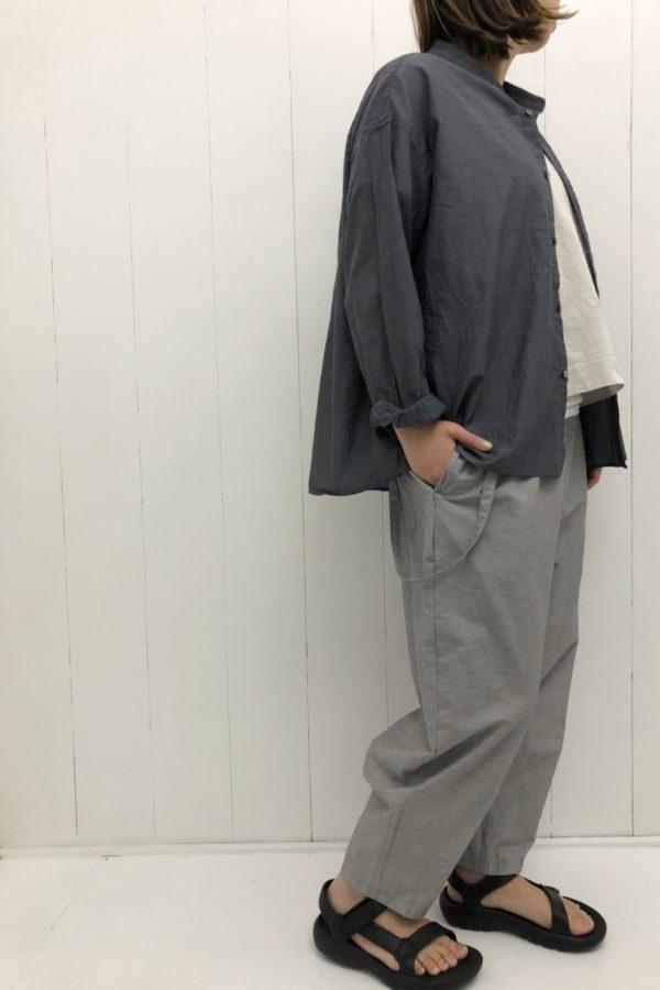 長袖 Aラインワイドシャツ style