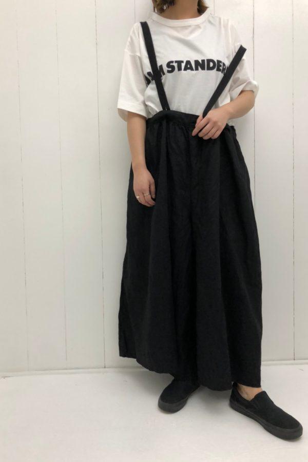 プリントTシャツ × ストリング ワイドキュロット style