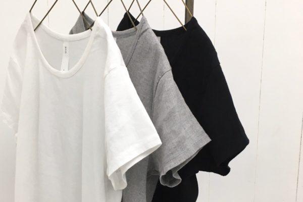 40/1 ビワコットン フレンチスリーブTシャツ