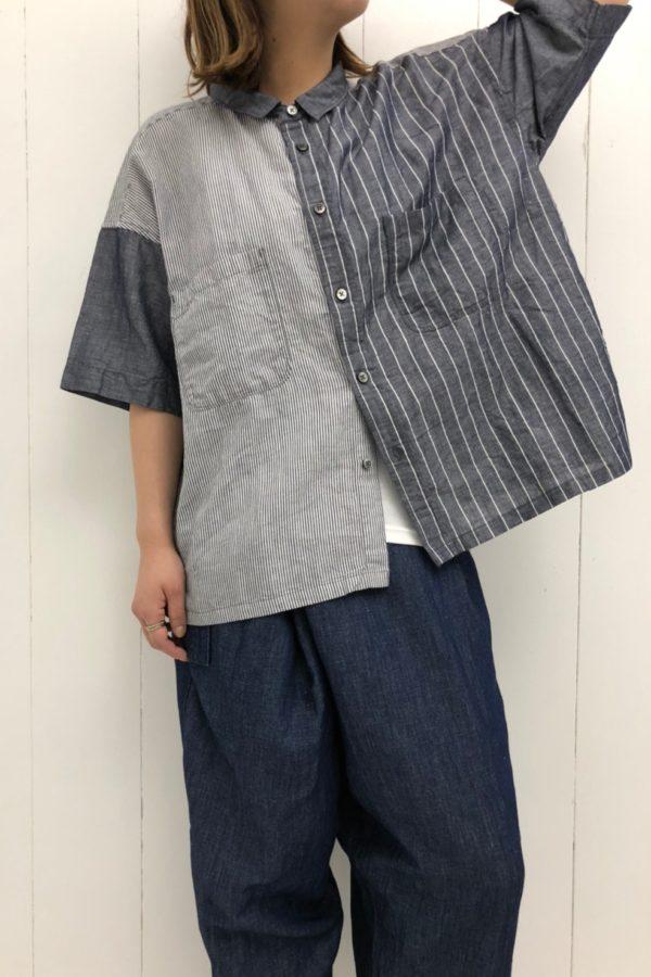 パターンミックス ビッグシャツ × ルローパンツ style
