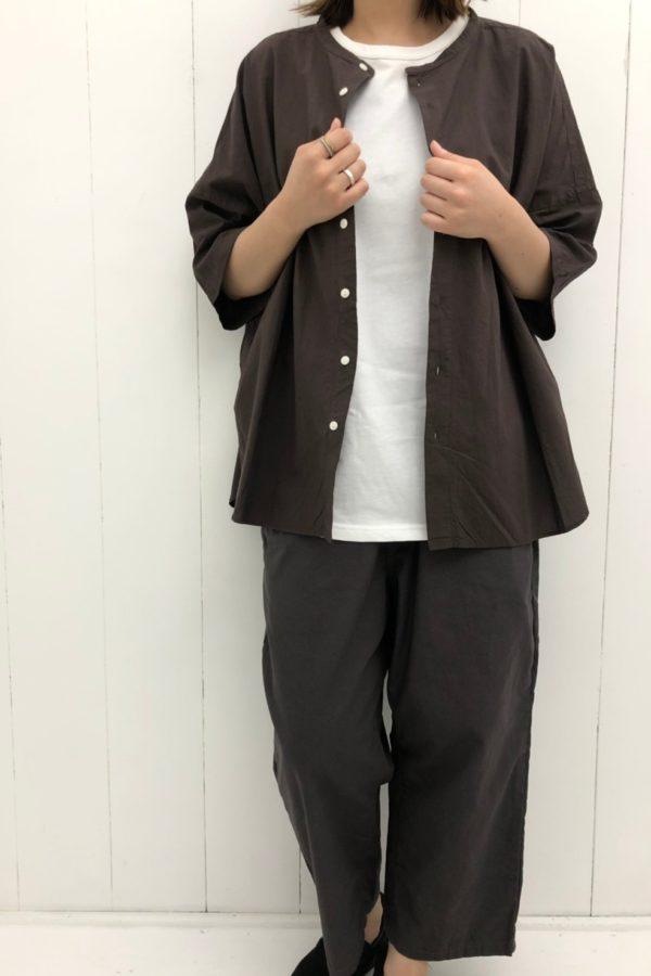 ラウンドヘムビッグシャツ style