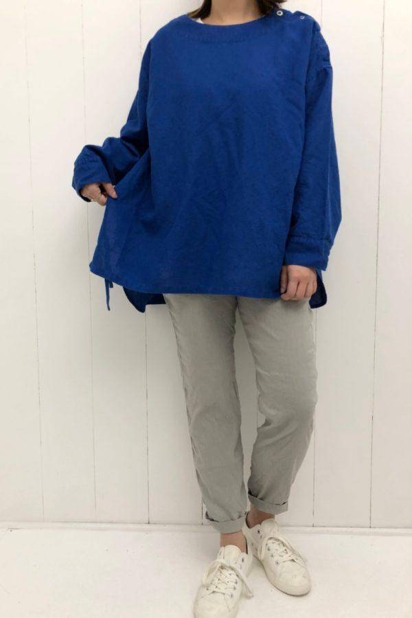 綿麻キャンバス アンフェルミエシャツ style