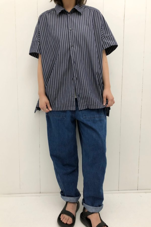 WIDE BARBER SHIRTS × JAMES PANTS style