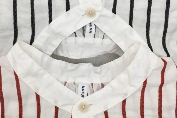 ストライプサッカー フレンチプルオーバーシャツ