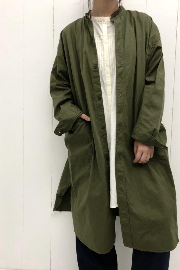 オーバーシャツ × リーニュチュニック × シェフパンツ style