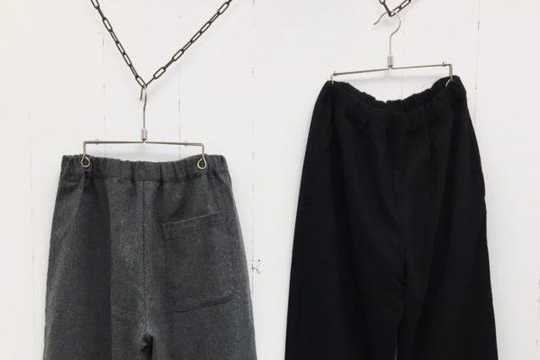 1/14 リサイクルウールストレッチ 裾ダーツリラックスパンツ