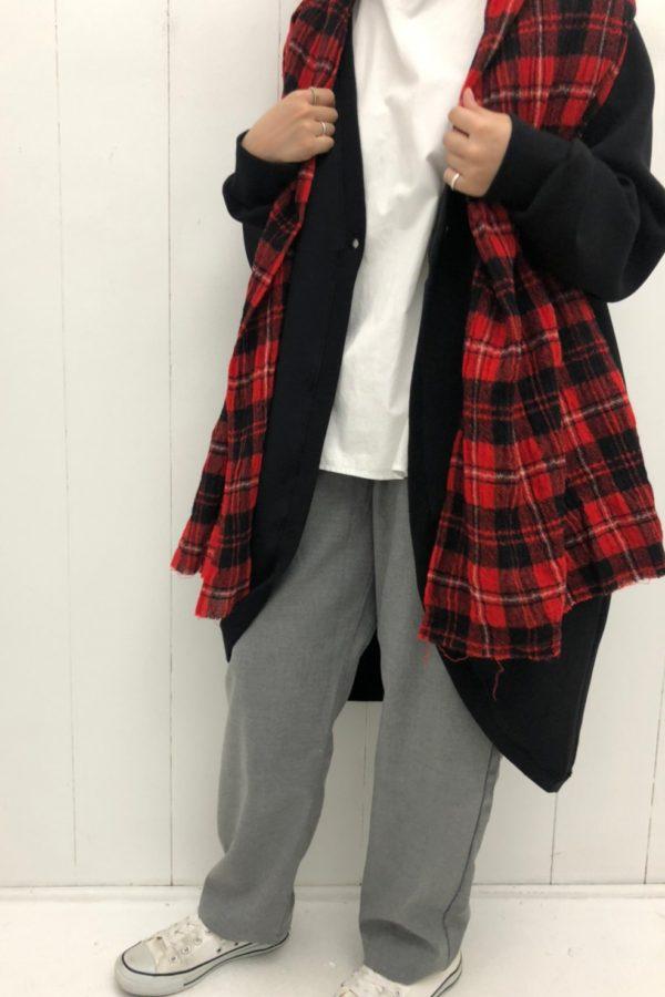 タータンチェックストール style