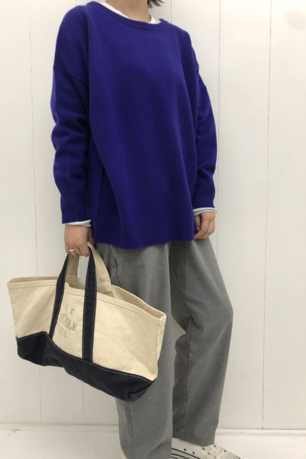WIDE KNIT PULL OVER × RELAX TROUSER PANTS style